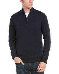 Peter Millar - Crown Soft Maxwell Lined 1/4-zip Merino Wool & Silk-blend Jumper - Lyst