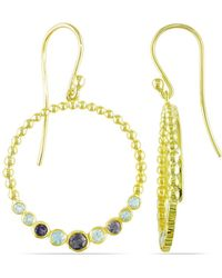 Catherine Malandrino - Blue Topaz And Iolite Circle Drop Earrings In Sterling Silver - Lyst