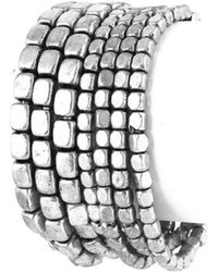 Bungalow 20 - Layered Oxidized Metal Stretch Bracelets - Lyst