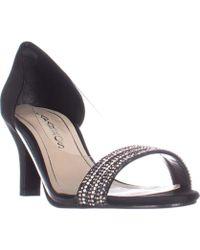 Caparros - Fancy Peep-toe Embellished Evening Pumps, Black - Lyst