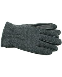 Ike Behar - Wool Leather Touchscreen Gloves - Lyst