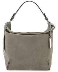 Vince Camuto - Textured Leather & Suede Hobo Bag - Lyst