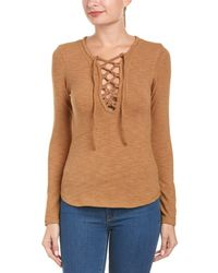 ANAMÁ - Lace-up Top - Lyst