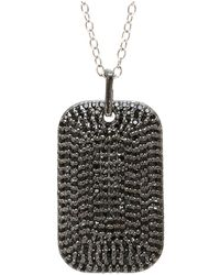 Adornia - Black Spinel And Sterling Silver Angelina Necklace - Lyst