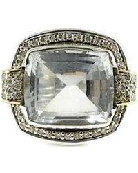 Lagos - Sterling Silver 18k White Topaz Diamond Ring - Lyst