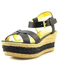 Ralph Lauren - Womens Roberta Leather Open Toe Casual Platform Sandals - Lyst