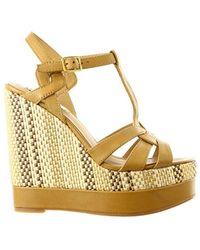 Lauren by Ralph Lauren - Womens Maeva Leather Open Toe Casual Platform Sandals - Lyst