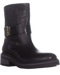 Furla - Club Round Toe Block Heel Ankle Boots, Bufalo Moon - Lyst
