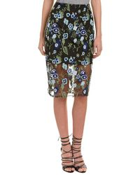 BCBGeneration   Embroidered Pencil Skirt   Lyst