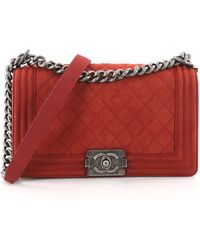 c12581ca982f Chanel - Pre Owned Boy Flap Bag Quilted Matte Caviar Old Medium - Lyst
