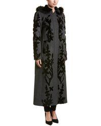 Elie Tahari - Wool Coat - Lyst