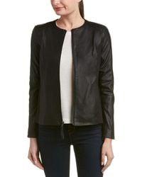 Via Spiga | Mixed Media Leather-trim Jacket | Lyst