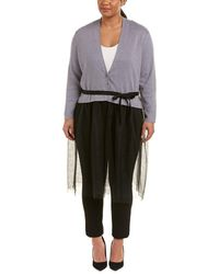 NIC+ZOE - Nic+zoe Plus Tulle Time Cardy - Lyst