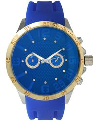 Olivia Pratt - Men's Sporty Sub-dial Silicone Watch - Lyst