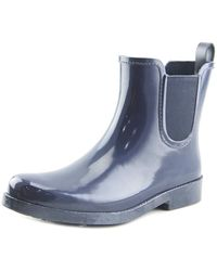 COACH - Womens Tyler Rubber Closed Toe Ankle Rainboots - Lyst