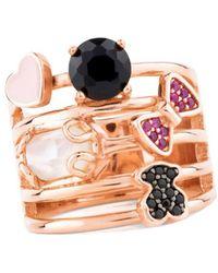 Tous - Women's Gold Metal Ring - Lyst