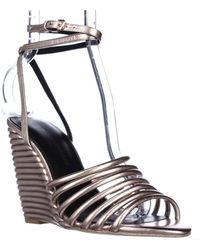 Rebecca Minkoff - Savannah Strappy Ankle Wedge Sandals - Rose Gold - Lyst