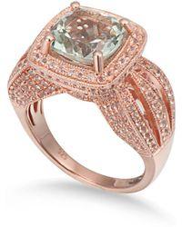 Suzy Levian - Sterling Silver 4.9 Tcw Green Amethyst Ring - Lyst