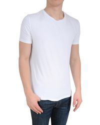 Stone Rose - Soft White Crew Neck T-shirt - Lyst