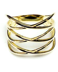 Jewelry Affairs - 14k Yellow Gold Triple X Fashion Ring - Lyst
