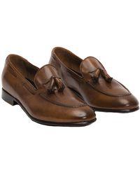 Frye - Men's Aiden Tassel Leather Loafer - Lyst