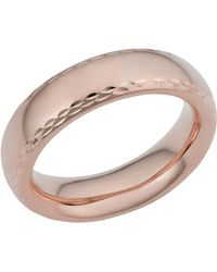 Jewelry Affairs - 14k Rose Gold Diamond Cut 6mm Wide Wedding Band Ring, Size 8 - Lyst