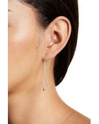 Adornia - Sterling Silver Dangling Hook Earrings - Lyst