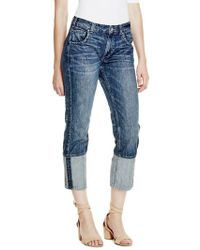 Guess - Alex Cuffed Straight Slouch Jeans - Lyst