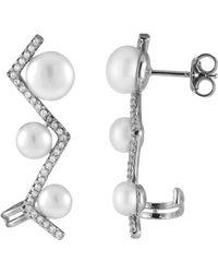 Splendid - Ear Crawlers With Freshwater Pearls - Lyst