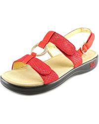 Alegria - Julie Women Open-toe Leather Red Slingback Sandal - Lyst