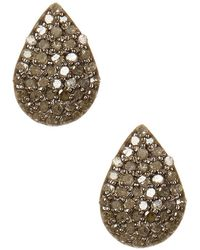 Adornia - Champagne Diamond And Sterling Silver Teardrop Stud Earrings - Lyst