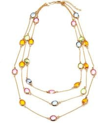Peermont - Multi Color Swarovski Elements Necklace - Lyst