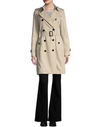 Burberry - 'the Kensington' Double-breasted Trench Coat - Lyst