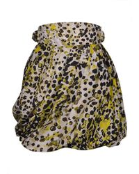 Roberto Cavalli - Womens Yellow Dotted Silk Pleated Skirt - Lyst