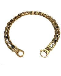Jewelry Affairs - 14k Yellow Two Tone Gold Railroad Link Mens Bracelet, 8.5 - Lyst