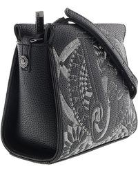 Versace Jeans - Ee1vrbbr5 Black Crossbody Bag With Silk Thread Embroidery -  Lyst 996074eddd328