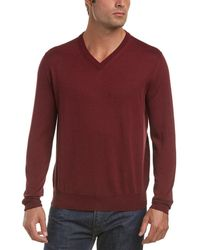 Canali | V-neck Wool Sweater | Lyst