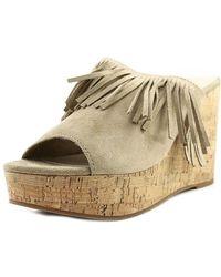 Ariat - Unbridled Leigh Open Toe Suede Platform Sandal - Lyst
