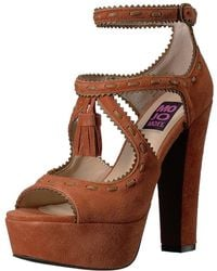 Mojo Moxy - Womens Creole Suede Peep Toe Ankle Strap Classic Pumps - Lyst