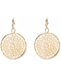 Peermont - Gold Mesh Circle Earrings - Lyst