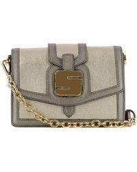 Serapian - Women's Silver/gold Leather Shoulder Bag - Lyst