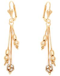 Peermont - Gold & Crystal Drop Earrings Made With Swarovski Elements - Lyst