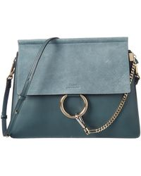 Chloé - Faye Medium Leather & Suede Shoulder Bag - Lyst
