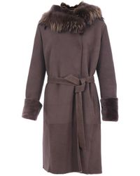 Rizal - Women's Brown Leather Trench Coat - Lyst