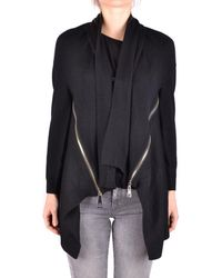 Liu Jo - Women's Black Wool Cardigan - Lyst