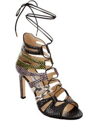 Jimmy Choo - Hitch 100 Leather Strappy Heeled Sandal - Lyst