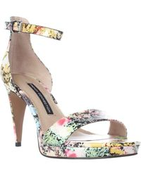 French Connection - Nata Ankle Strap Sandals - Multi Colour - Lyst