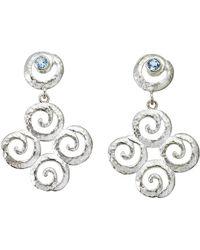 Jewelista - Sterling Silver Blue Topaz Earrings - Lyst