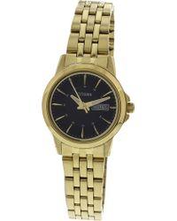 Citizen - Women's Eq0603-59e Gold Tone Stainles-steel Japanese Quartz Dress Watch - Lyst