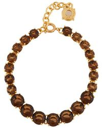 Les Nereides - La Diamantine Smoky Quartz One Row Luxurious Bracelet - Lyst